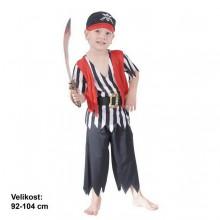 Dětský karnevalový kostým PIRÁT BŘITVA 92 - 104cm ( 3 - 4 roky )